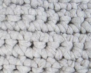 埼玉県所沢市のかぎ針編み教室pomponnerで使うzpagettiレッスンの編み地12mmのアップ