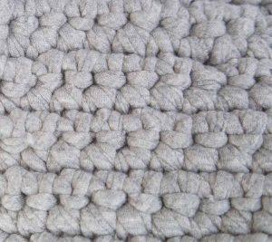 埼玉県所沢市のかぎ針編み教室pomponnerで使うzpagettiレッスンの編み地7号のアップ