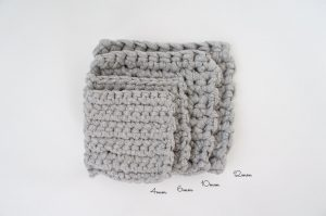 埼玉県所沢市のかぎ針編み教室pomponnerで使うzpagettiレッスンの編み地を重ねた時