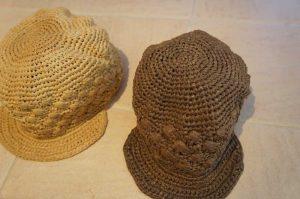 埼玉県所沢市のかぎ針編み教室pomponnerの編んだエコアンダリヤの麦わら帽子
