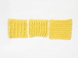 埼玉県所沢市のかぎ針編み教室pomponnerのかぎ針編みの基礎レッスンで長編みの表引き上げ編みでゴム編み風の編み地の画像