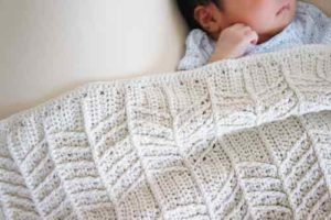 かぎ針編みで編んだブランケットの画像