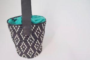 埼玉県所沢市の編み物教室pomponnerで作れるエコアンダリヤのバケツバッグの画像