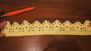 埼玉県所沢市の編み物教室pomponnerがデザインしたかぎ針編みで作る王冠の画像