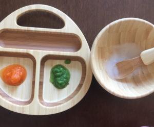 コープデリの裏ごし野菜は離乳食作りに便利です。