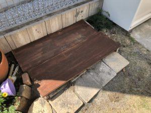 猫のフン防止のための砂場の蓋